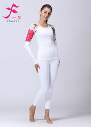一梵秋冬新品  清爽棉  J889套装 瑜伽服 白色