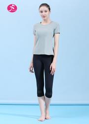 【J1178】后腰裁片疊加時尚運動套裝