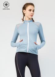 【W448】外套肩部网纱拼接散热、透气拉链冒保护颈部拇指洞固定袖袢