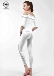 【K928】 L現貨       新款網紗拼接線條拉長腿部 白色