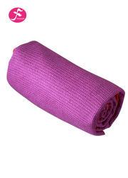 隐形硅胶颗粒 包边设计 格子铺巾  紫红色    183*63CM