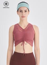 【Y1020】绑带随心设计时尚瑜伽服 枯粉
