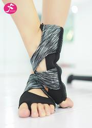 一梵新品硅胶防滑瑜伽鞋 黑灰色