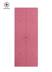 天然橡胶PU瑜伽垫(升级版)0.45cm 引导线 玫红色