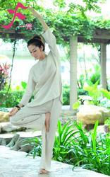 一梵禅修服4号款 款式简洁经典 材质天然舒适 麻棉 棉绸两种面料