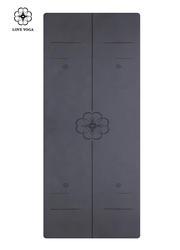 天然橡胶PU瑜伽垫(升级版)0.25cm 引导线 黑色