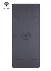 天然橡胶PU瑜伽垫(升级版)引导线 黑色