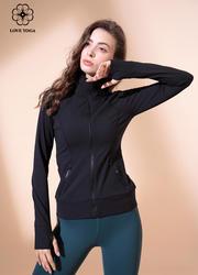 【W464】瑜伽服女秋冬新款寬松瑜伽運動外套