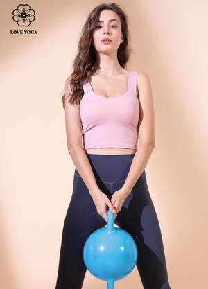 【Y906】瑜伽服女2019秋冬新款純色百搭背心bra瑜伽上衣