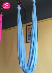 低彈力吊床 錦綸高支紗織造 湖藍色