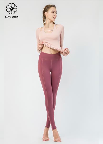 【Y801】開肩設計螺紋編織舒適修身收肉 粉紅