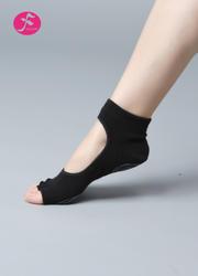 一梵瑜伽硅胶防滑袜   (露趾袜、露背袜)黑色
