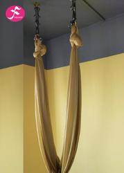 低弹力吊床 锦纶高支纱织造  金色