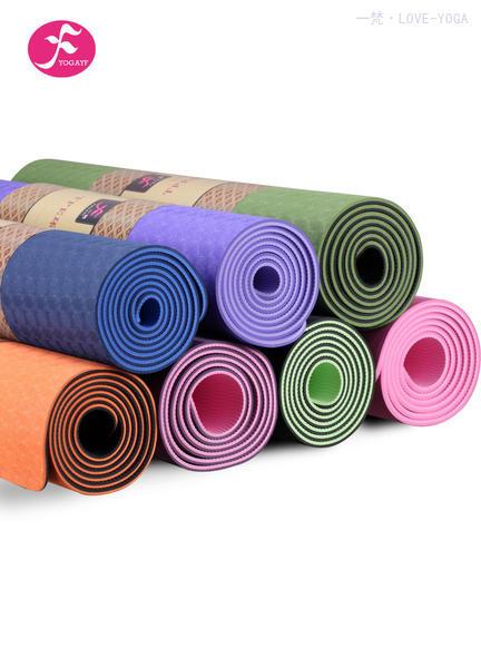 初学者必备款 天然环保TPE瑜伽垫多色可选   183*61*0.6CM