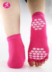 一梵新品秋冬保暖瑜伽袜 玫红色