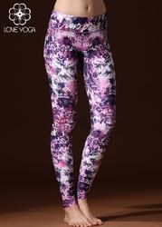 瑜伽印花裤 英文紫色  H5219S现货