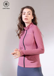 【W458】瑜伽服女2019秋冬新款塑身上衣瑜伽外套